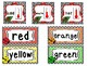 Ladybugs themed Printable Weekly Focus Labels. Classroom Bulletin Board Set.