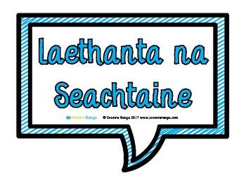 Laethanta na Seachtaine