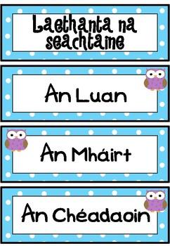 Laethanta na Seachtaine (Owl theme)