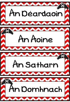 Laethanta na Seachtaine (pirate theme)