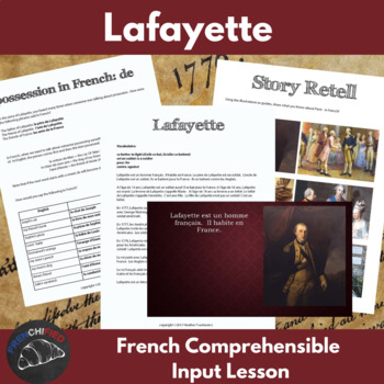 Lafayette - Comprehensible Input lesson for beginning French