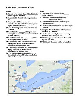 Lake Erie Crossword Puzzle