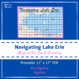 Lake Erie Map with Grid Overlay