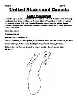 Lake Michigan Map and Description