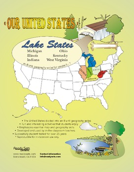 Lake States-'Our United States Series' 32-Page Lesson Plans Booklet