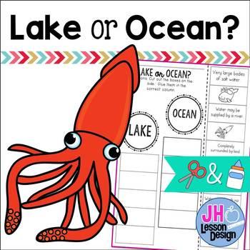 Lake or Ocean? Cut and Paste Sorting Activity