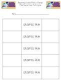 Lakeshore Phonemic Awareness Stamps Accountability Worksheets