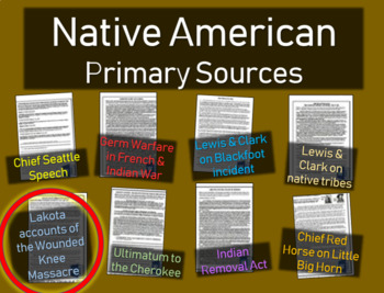 Lakota Accounts of Wounded Knee - Native American Primary Source with guiding Qs