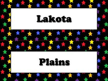 Lakota (Sioux) Vocabulary Strips - Native Americans - Supe