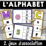 French alphabet - 2 jeux d'association - Ensemble