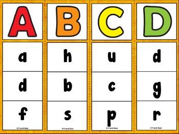 French alphabet - 2 jeux d'association - Ensemble - Bundle