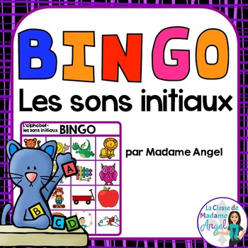 Son initial:  French Beginning Sounds Bingo Game
