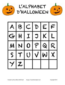 L'alphabet d'halloween