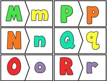 L' alphabet - majuscules/minuscules - 26 puzzles - capitals/small letters