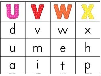 French alphabet - majuscules/minuscules - jeu d'association