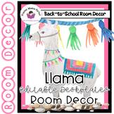 Llama Classroom  Decor - Deskplates