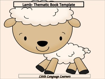 ESL Resources: Baby Lamb Thematic Writing Book Template-ELL Newcomers Too!