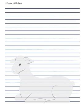 Lamb Writing Printable