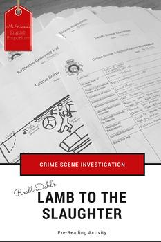 Lamb to the Slaughter Anticipatory Murder Mystery Activity