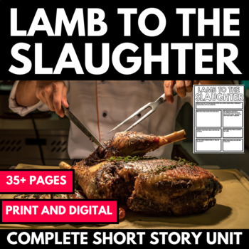 Lamb To The Slaughter By Roald Dahl Short Story Unit Questions And Activities