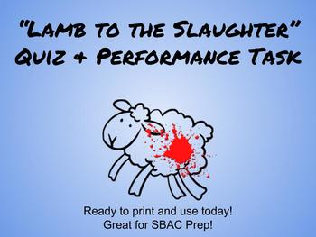 Lamb to the Slaughter SBAC/Common Core Resources