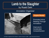 """Lamb to the Slaughter"" by Roald Dahl: Annotation Organizer"
