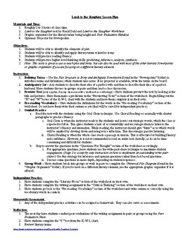 Lesson: Lamb to the Slaughter by Roald Dahl Lesson Plan, Worksheets, Key