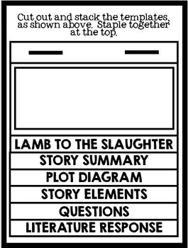 Lamb to the Slaughter by Roald Dahl: Short Story Foldable Flip Book Project