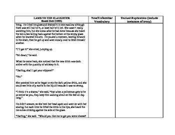Lamb to the Slaughter - full text textual explication