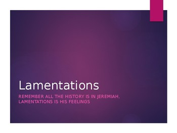 Lamentations Power Point Notes