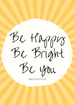Lámina Be bright