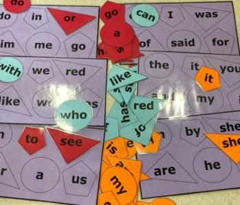 Puzzles word matching Free CVC