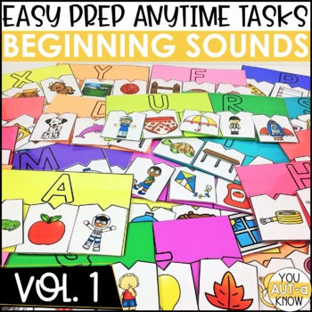 Laminate, Velcro, and Go! Anytime Beginning Sounds Tasks