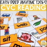 Laminate, Velcro, and Go! Anytime CVC Reading Tasks