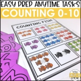 Laminate, Velcro, and Go! Anytime Counting (0-10) Tasks