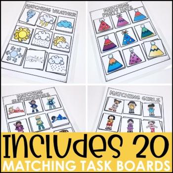 Laminate, Velcro, and Go! Anytime Matching Tasks