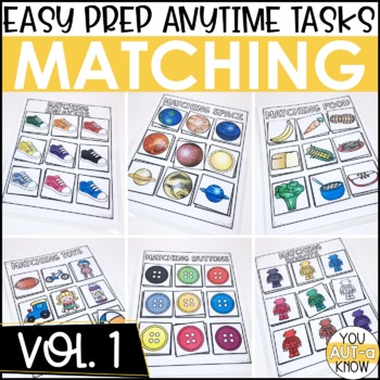 Laminate, Velcro, and Go! Anytime Matching Tasks