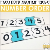 Laminate, Velcro, and Go! Anytime Number Order Tasks