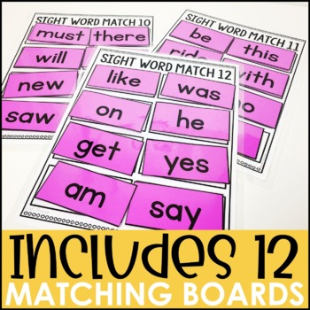 Laminate, Velcro, and Go! Anytime Primer Sight Word Matching Tasks