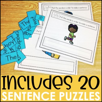 Laminate, Velcro, and Go! Anytime Scrambled Sentence Tasks