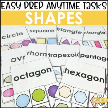 Laminate, Velcro, and Go! Anytime Shapes Tasks