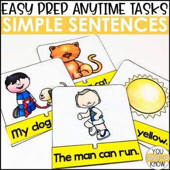Laminate, Velcro, and Go! Anytime Simple Sentence Tasks