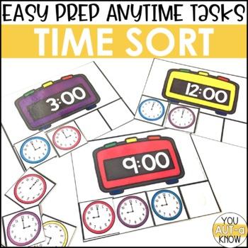 Laminate, Velcro, and Go! Anytime Telling Time Tasks