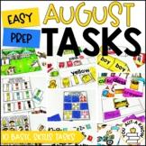 Laminate, Velcro, and Go! Seasonal Work Tasks: AUGUST EDITION