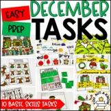 Laminate, Velcro, and Go! Seasonal Work Tasks: DECEMBER EDITION