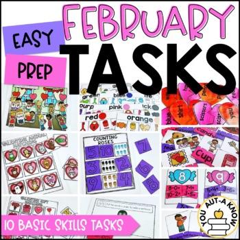 Laminate, Velcro, and Go! Seasonal Work Tasks: FEBRUARY EDITION