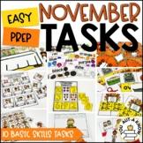 Laminate, Velcro, and Go! Seasonal Work Tasks: NOVEMBER EDITION