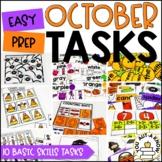 Laminate, Velcro, and Go! Seasonal Work Tasks: OCTOBER EDITION