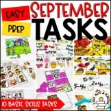 Laminate, Velcro, and Go! Seasonal Work Tasks: SEPTEMBER EDITION