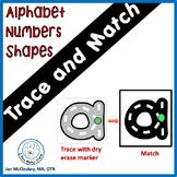 Alphabet Numbers and Shape Task Cards